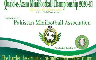 The Pakistan Minifootball Association organizes a men and women championship
